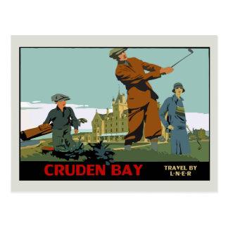 Retro Cruden Bay Scotland Golf Ad Post Card