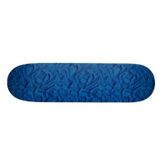 Retro Crumpled Blue Texture Paper Custom Skate Board
