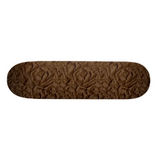 Retro Crumpled Brown Paper Skate Board Deck