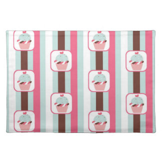 Retro Cupcake Birthday Party Placemat