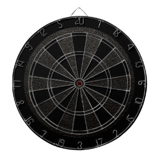 Retro Custom Black Leather Dartboard