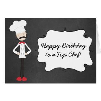 Retro Custom Chef Happy Birthday Greeting Card