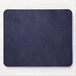Retro Custom Navy Blue Leather Mouse Pad