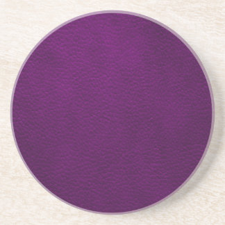 Retro Custom Purple Leather Coaster