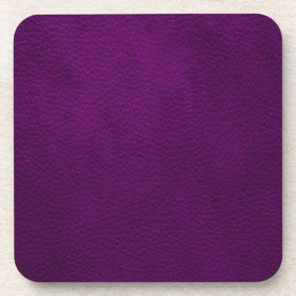 Retro Custom Purple Leather Coaster