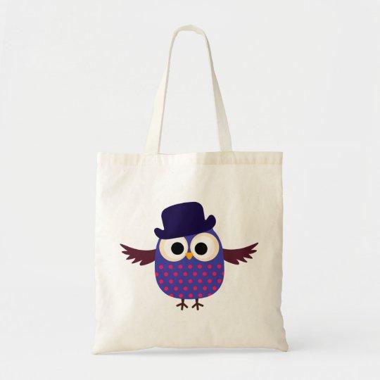 Retro Custom Purple Owl With Hat