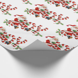 Retro Cute Fun Santa Joy Holiday Gift Wrapping Wrapping Paper