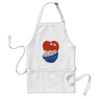 Retro Cute Humor, Bowl of Popcorn for the Movies! Standard Apron