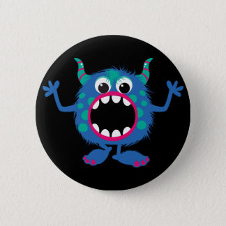 Retro Cute Monster 6 Cm Round Badge