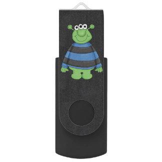 Retro Cute Monster Alien Swivel USB 3.0 Flash Drive