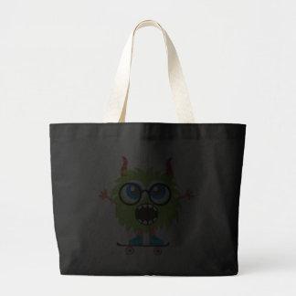 Retro Cute Monster Tote Bag