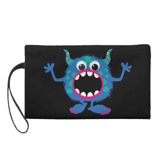 Retro Cute Monster Wristlet Purse