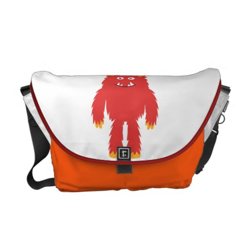 Retro Cute Monster Messenger Bag