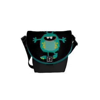 Retro Cute Monster Courier Bag