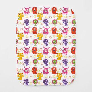 Retro Cute Monster Pattern Burp Cloth