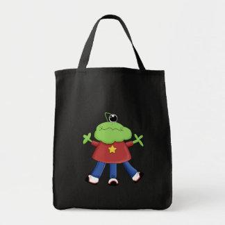 Retro Cute Monster Canvas Bag