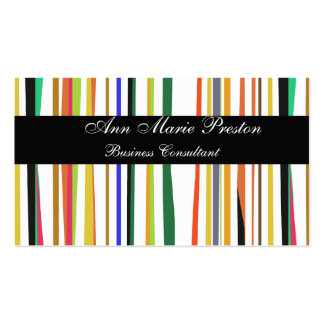 Retro Cute Unique Colorful Bold Striped Pattern Pack Of Standard Business Cards