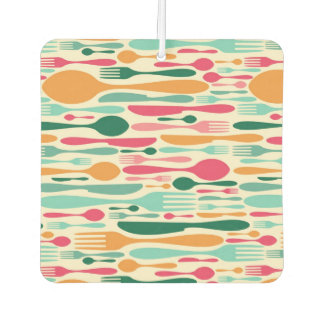 Retro Cutlery Pattern Background Car Air Freshener