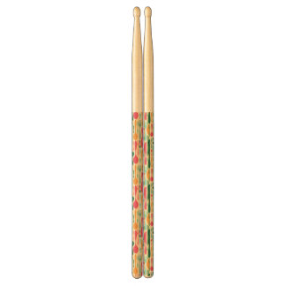 Retro Cutlery Pattern Background Drumsticks
