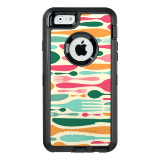 Retro Cutlery Pattern Background OtterBox iPhone 6/6s Case