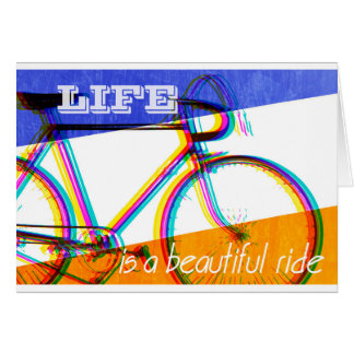 Retro Cycling Design - Life is a Beautiful Ride Greeting Card
