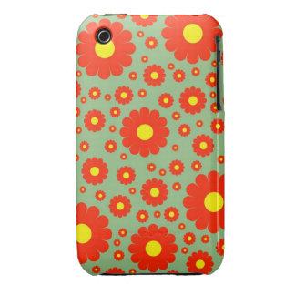 Retro Daisies iPhone 3G/3GS Case iPhone 3 Covers