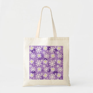 Retro Daisies Purple Gingham Circles Bags