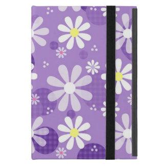 Retro Daisies Purple Gingham Circles iPad Mini Case