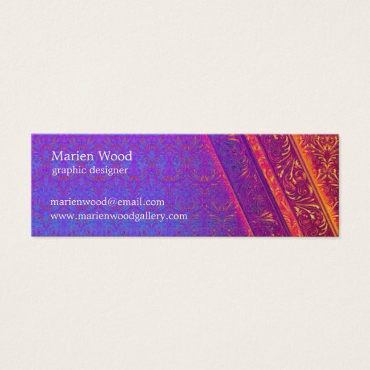 Retro Damask | Elegant Mini Business Card