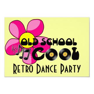 Retro Dance Party - Old School Cool Vinyl Records 9 Cm X 13 Cm Invitation Card