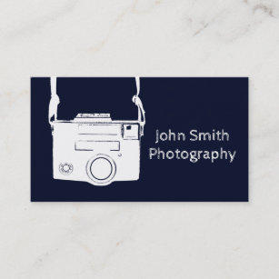 Vintage film camera business cards business card printing zazzle uk retro dark blue vintage film camera photography business card reheart Choice Image