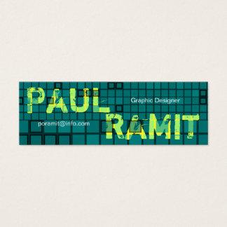 Retro Dark Green Mosaic Business Card