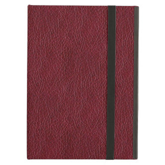 Retro Dark Red Leather Grunge Custom Cover For iPad Air