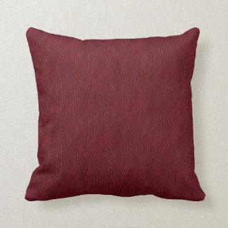 Retro Dark Red Leather Grunge Custom Throw Pillow