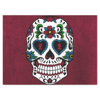 Retro Day of the Dead Sugar Skull Tissue Paper
