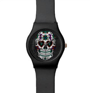 Retro Day of the Dead Sugar Skull Watch