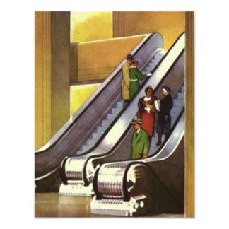 Retro Deco Invitations Department Store Escalators