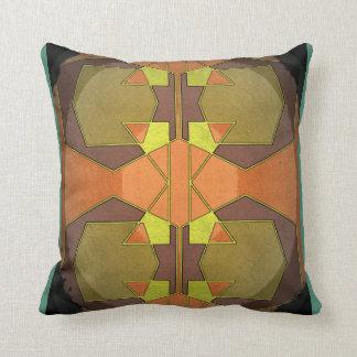 Retro Deco Square Cushion