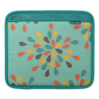 Retro Decorative Turquoise Orange Pattern Sleeve For iPads