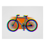 Retro Design Bike customised Poster