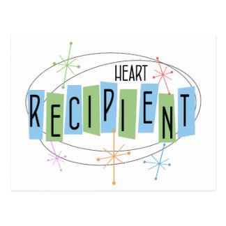 Retro design Heart Transplant Recipient Postcard