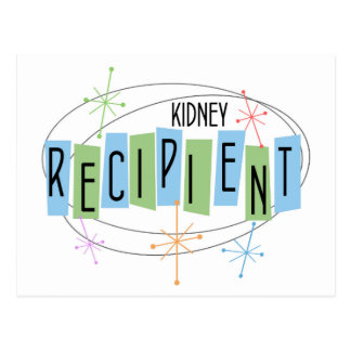 Retro design Kidney Transplant Recipient Postcard