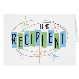 Retro design Lung Transplant Recipient Card