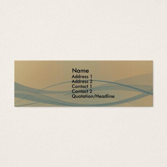 Retro Design Mini Business Card