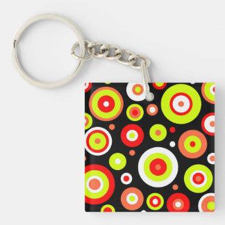 Retro design Single-Sided square acrylic key ring