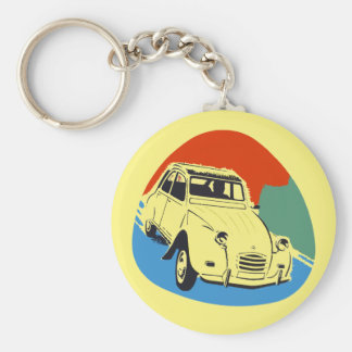 Retro Deux Chevaux the tin snail Key Ring