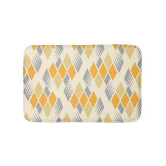 Retro diamond pattern 3 bath mat