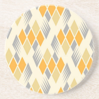 Retro diamond pattern 3 coaster