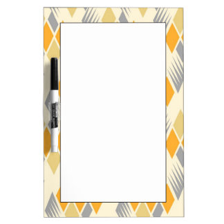 Retro diamond pattern 3 dry erase board