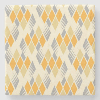 Retro diamond pattern 3 stone coaster